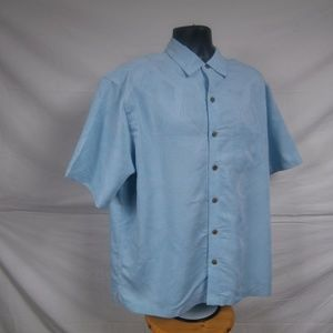 Carribbean Mens Size XL Button Front Causual Shirt